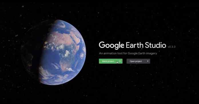 Splash page image for the Google Earth Studio service.