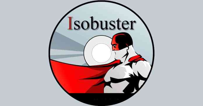 Image of the Isobuster data recovery software logo on a grey background.