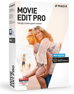 Box shot of Magix Movie Edit Pro editng software