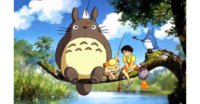 Totoro and friends fishing.