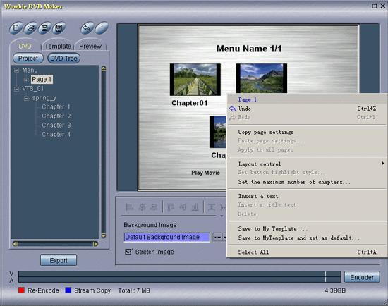 Womble Video Wizard Menu Maker