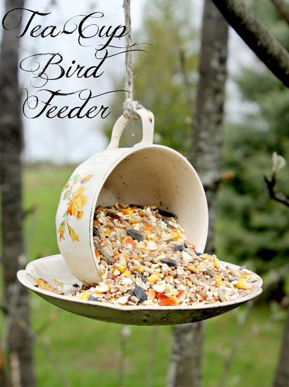 69 epic homemade diy bird feeder to craft today diyvila cup and saucer diy bird feeder solutioingenieria Image collections