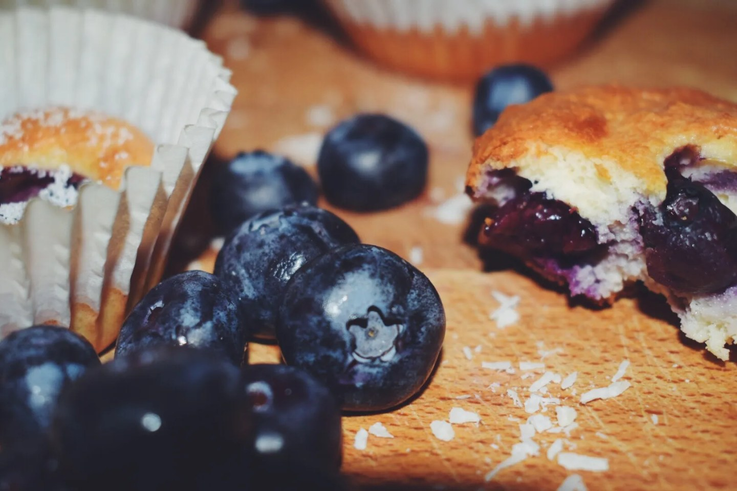 Joyce's Healthy Blueberry Muffins