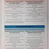Guided Reading Goodie!  Prompts for Analyzing and Synthesizing Texts!!