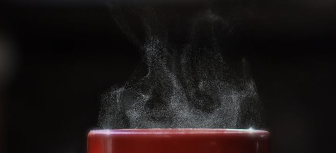 hot coffee, hot drink, steam, red coffee cup | See more at www.diywoman.net