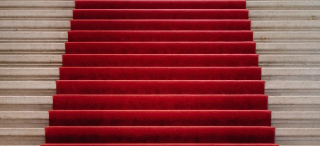 marriage, wedding, red carpet, stairs, church, abbey, royal wedding | See more at www.diywoman.net
