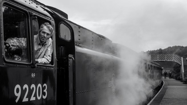 train, steam, black and white | See more at www.diywoman.net