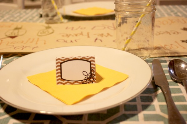 thankful place cards