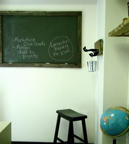 DIY Chalkboard Frame from My Old Fence