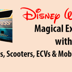 Wheelchair Express Small Dining Room Chairs Disney S Magical With A Scooter Ecv Or Other Mobility Device