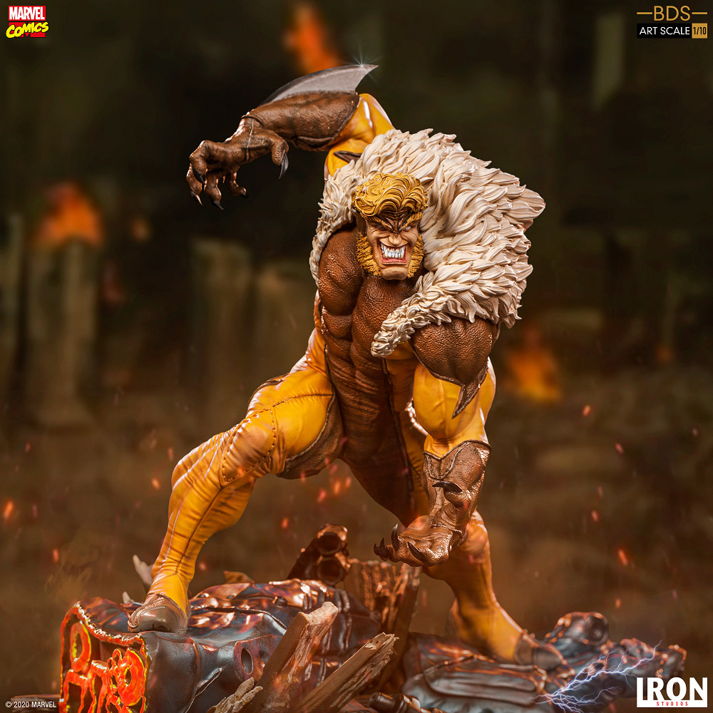 【預購】Iron Studio 1/10 MARVEL 漫威 劍齒虎 雕像(2020年第四季) - 哆奇玩具