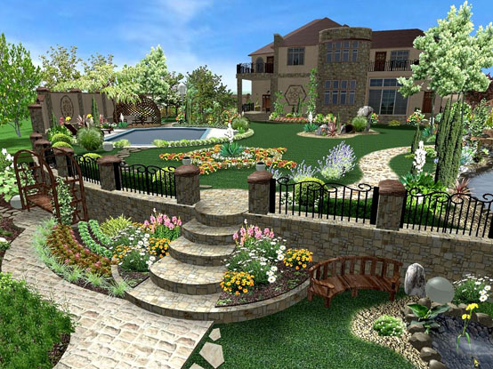 The Program For 3d Garden Design Free Software For Site Planning And Landscape Design What Encyclopedic Discs Teach