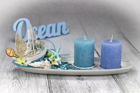 Dekorační svietnik v morskom nádychu