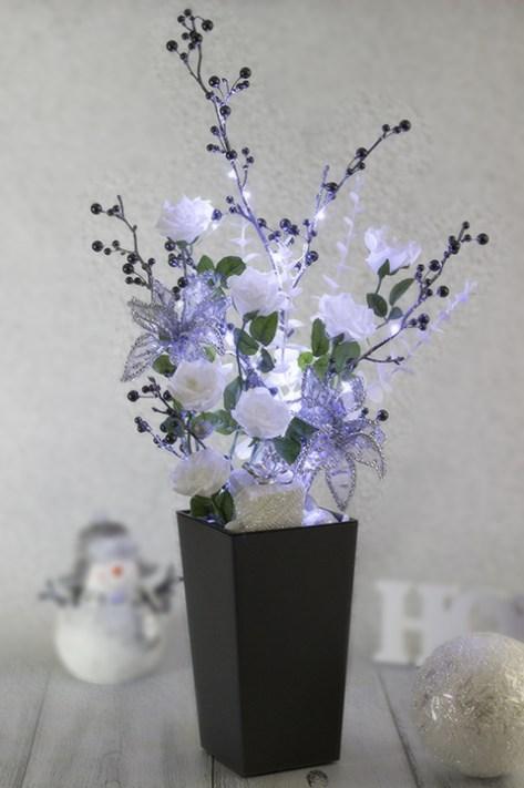 Vianočná dekorácie s moderným LED osvetlením