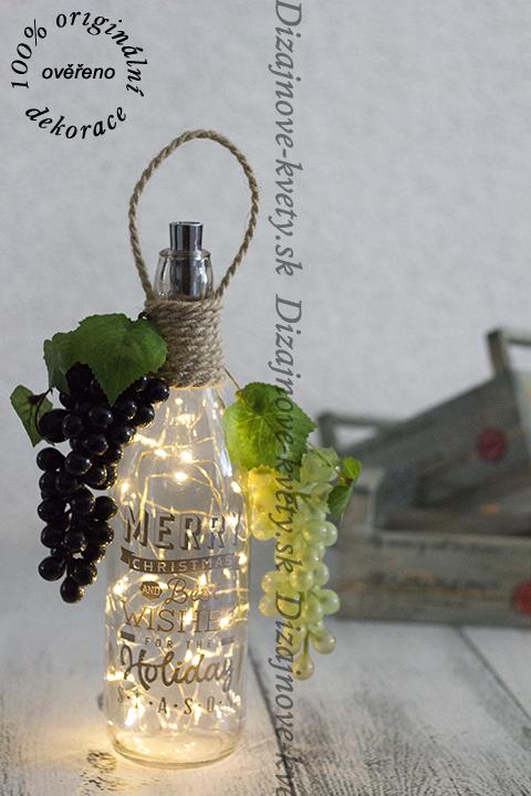Luxusná dekorčná flaša do vinotéky, reštaurácie či baru.