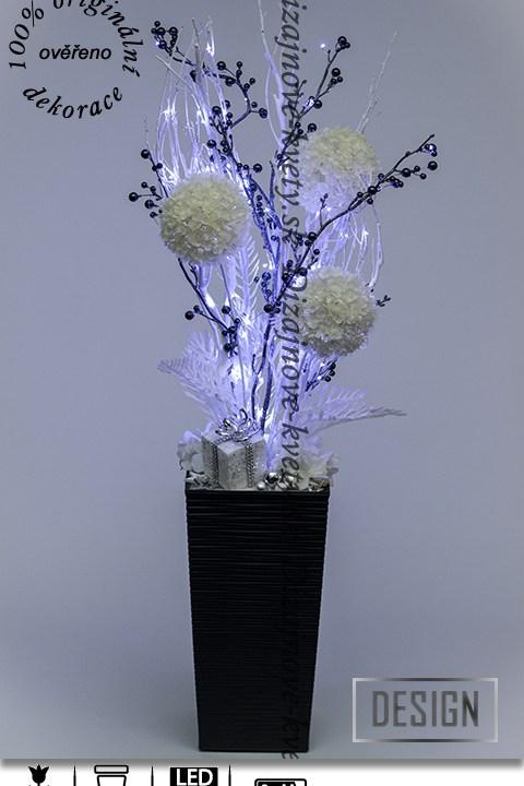 dekorácie sneh, dekorácie zima, LED svetlá, vianočné dekorácie, bytový dizajn