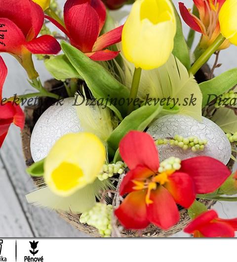Moderné jarné kvety s farbami jari