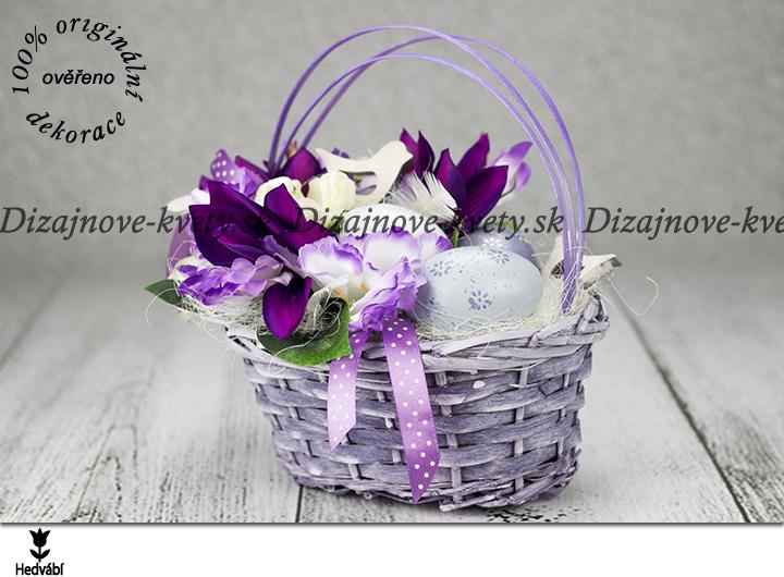 Veľkonočný košíček vo fialovej farbe  2d170e88599