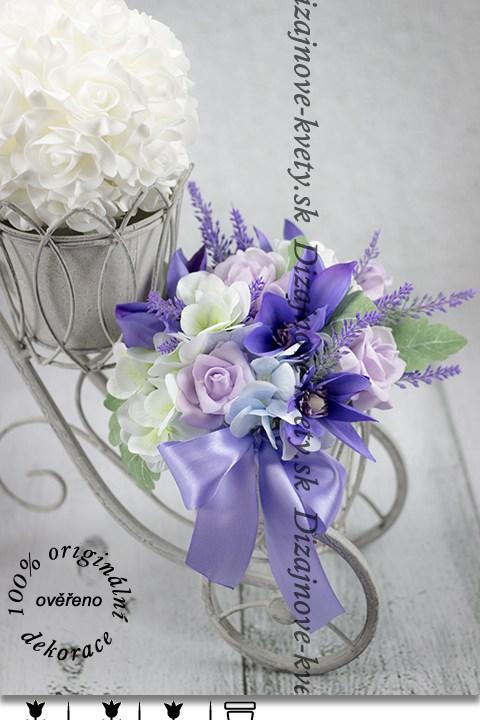 Kvetinové aranžmá v odtieňoch Provence