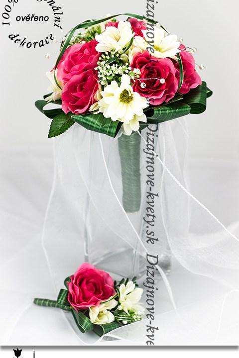 Romantický set svadobných dekorácií pre nevestu a ženícha