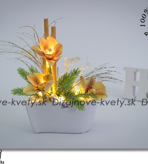 vianočné dekorácie, orchidea, ľad osvetlenie, bytová dekorácie, design