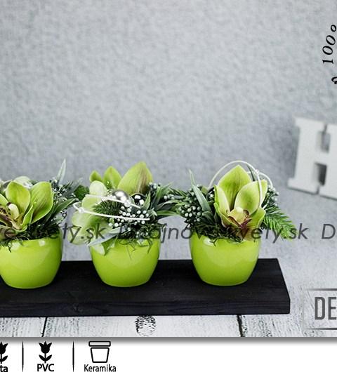 orchidea, vianočné dekorácie, dekorácie na stôl, dizajnová dekorácie, strieborné ozdoby