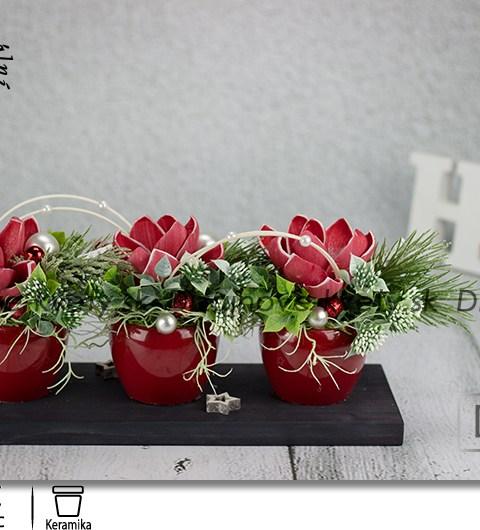 bytová dekorácie, vianočné dekorácie, borovica, stromček, dekorácie na stôl