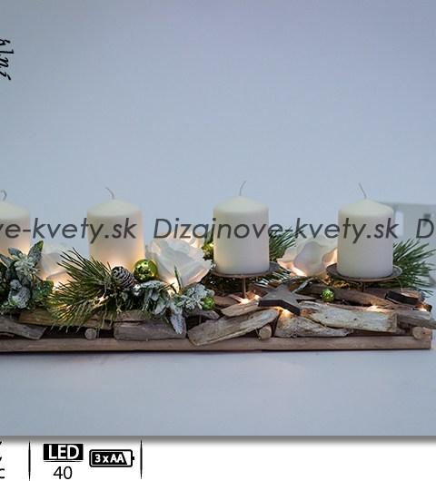 rustikálny štýl, bielené drevo, adventné svietniky, dizajnové svietniky, biele ruže