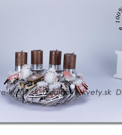 svietnik na stôl, adventný svietnik, dizajnová dekorácie, vianočné dekorácie
