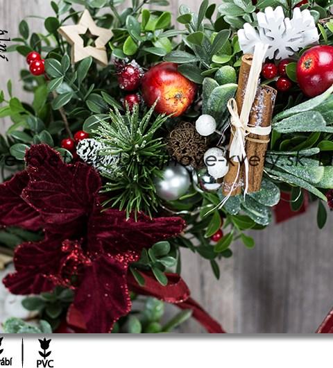 veniec na dvere, adventný veniec, ľad vianočný veniec, vstupnej haly hotelov