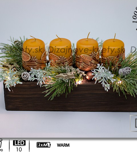 sviečkami s 3D dekorom, medové sviečky, tradičný advent