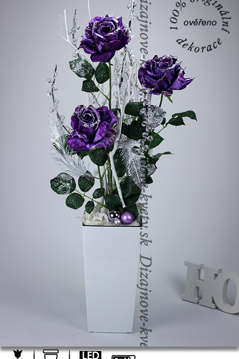 ruže, vianočné dekorácie, ľad dekoračné vetvička
