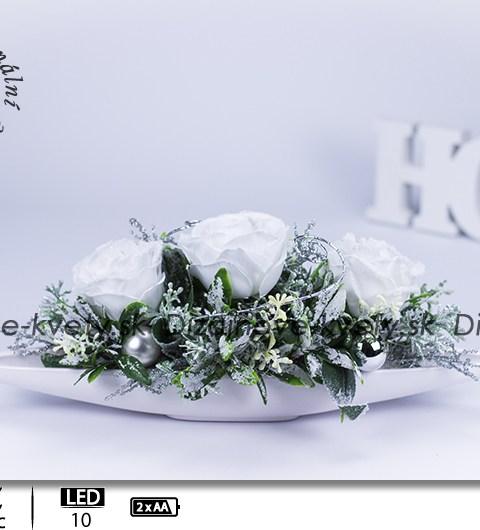 biele ruže, šalvia, vianočné dekorácie, dekorácie na stôl, ľad dekorácie, bytový dizajn