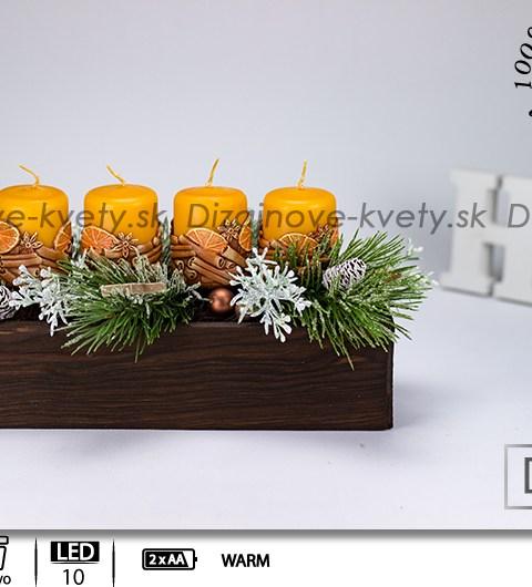 Moderný Vianočny svietnik a 3D sviečky