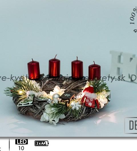 horské chaty, bytová vianočné dekorácie, ľad osvetlená dekorácie