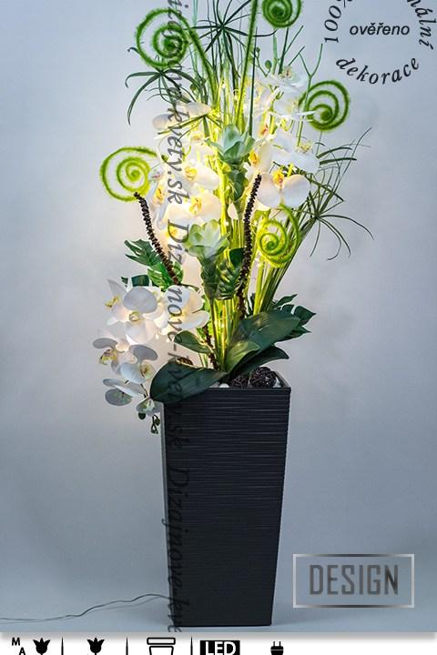 bytová dekorácie, luxusné dekorácie, biela orchidea, ľad dekorácie