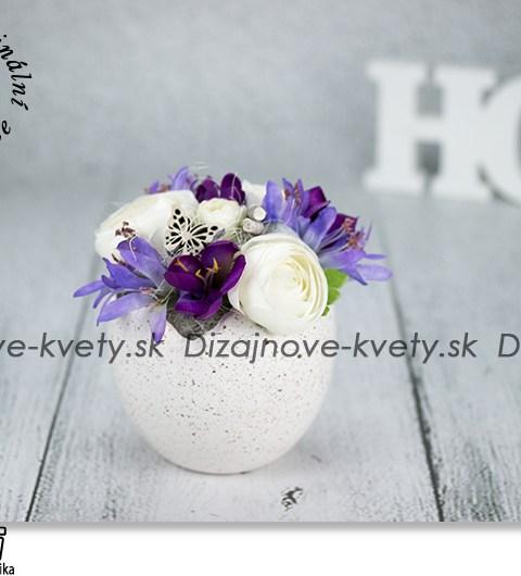 jarné dekorácie, veľkonočné dekorácie na stôl, keramická škrupina