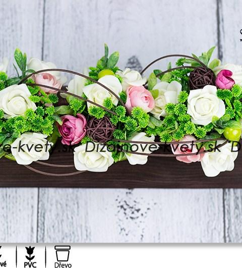bytová dekorácie, dekorácie na stôl, ružičky, svieže kvetinové aranžmá, interiérový dizajn