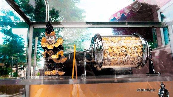 Clown popcorn turner roastie toastie at The Castle Hub in Disneyland