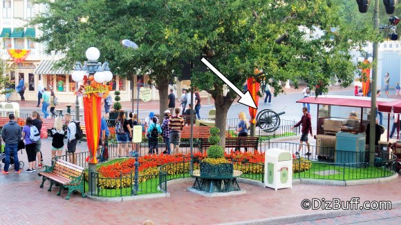 Disneyland French Cannon in Town Square Anaheim California