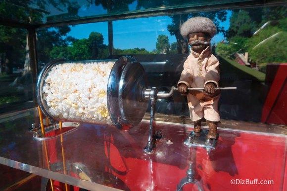 Popcorn turner Frontiersman Davy Crockett Roastie Toastie in Frontierland Disneyland California