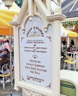 Jolly Holiday Bakery Cafe Sign at Disneyland
