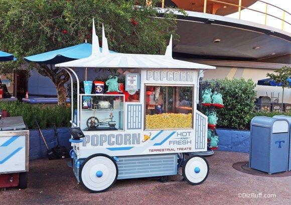 Popcorn Cart in Disneyland Tomorrowland