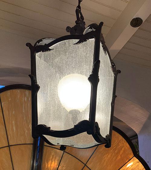 Light fixture in Disneyland Club 33 Court of Angels