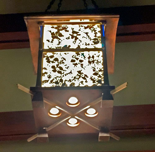 light fixture in common area at Disney's Grand Californian Hotel