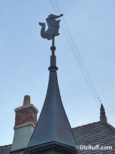 Tick-Tock the Crocodile roof spire on Peter Pan in Disneyland Fantasyland