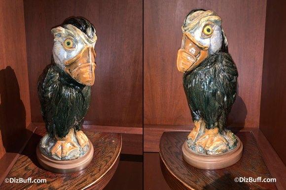 Grotesque Bird Greg the Puffin in Disneyland Grand Californian Hotel
