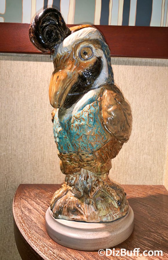 California Quail bird sculpture in Disneyland Grand Californian Hotel Grotesque Bird