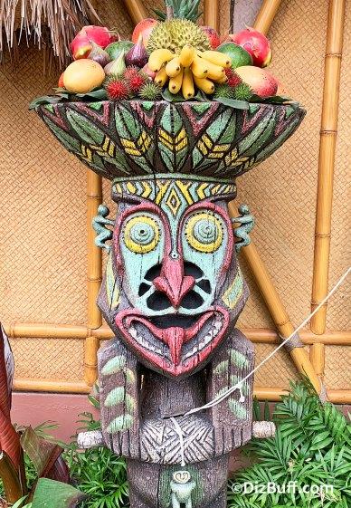Disney's Enchanted Tiki Room god Rongo in pre show
