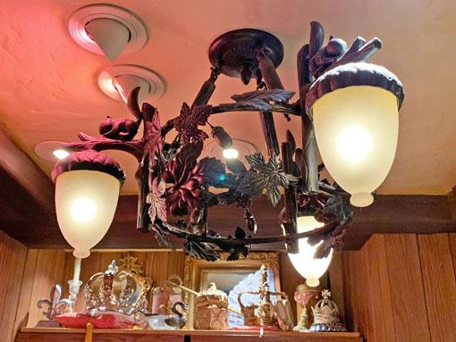 Acorn shaped light fixture in Bibbidi Bobbidi Boutique Fantasyland Disneyland